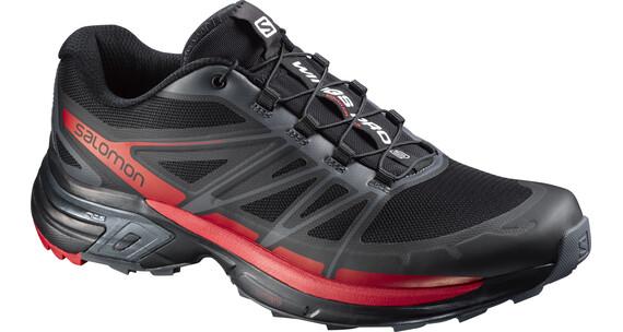 Salomon M's Wings Pro 2 Shoes Black/Dark Cloud/Radiant Red